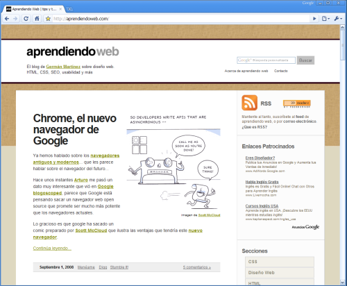 Aprendiendo Web en Chrome