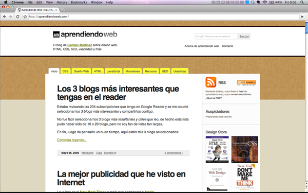 Aprendiendo Web en Google Chrome