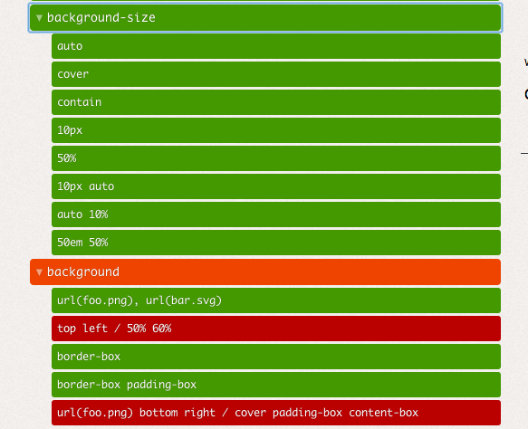 css3test backgrounds en Chrome